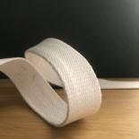 Sangle en coton blanche - 25 mm