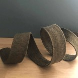 Sangle en coton kaki - 25 mm
