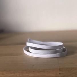 Elastique special maque blanc 8 mm
