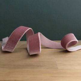 Ruban en velours élastique rose blush