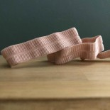 Biais élastique gros grain rose poudre - France Duval Stalla