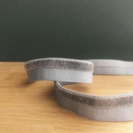 Biais élastique velours gris - France Duval Stalla