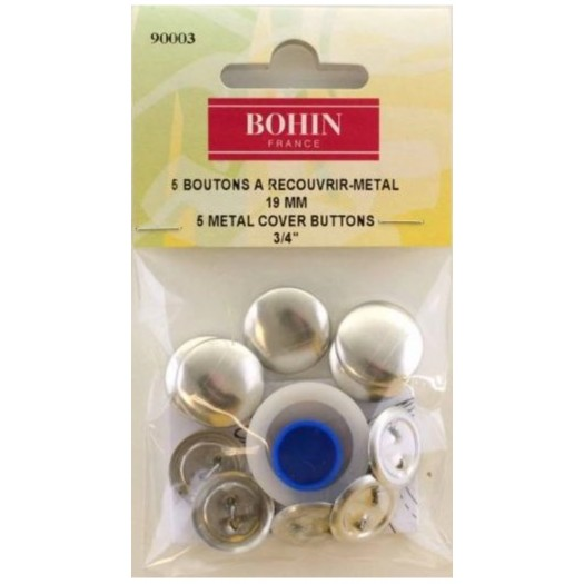 Boutons à recouvrir métal - Bohin
