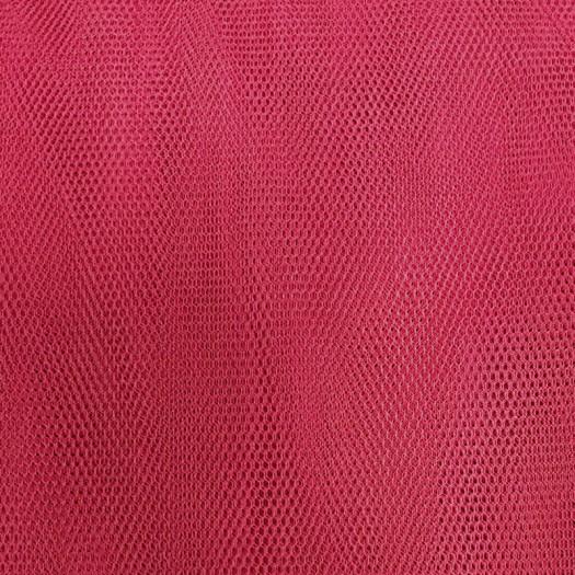 Tissu tulle souple rose foncé