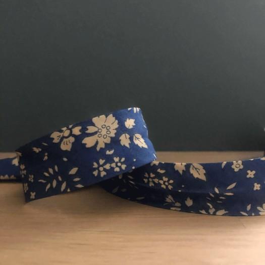 Biais en Liberty Capel bleu