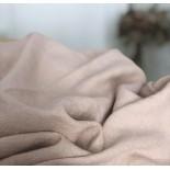 Tissu en lin lavé rose et lurex or - France Duval Stalla