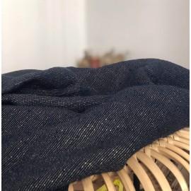 Tissu en lin lavé bleu et lurex or - France Duval Stalla