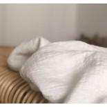 Tissu en lin lavé blanc texturé losange - France Duval Stalla