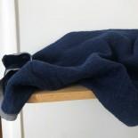 Tissu en lin lavé bleu texturé losange - France Duval Stalla