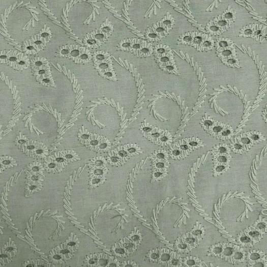 Coton broderie anglaise vert de gris 02