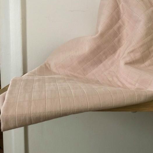 Coton matelassé Tayio rose nude