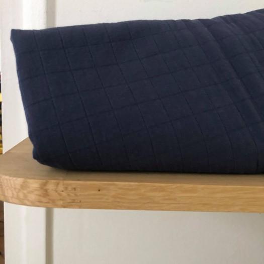 Coton matelassé bleu navy