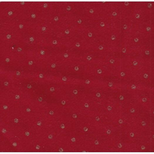 Coupon lainage rouge pois dorés 1 m 40