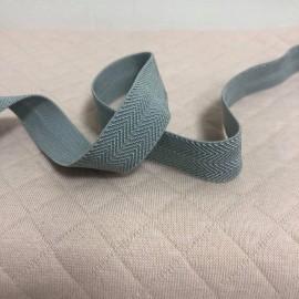 Biais élastique chevron gris
