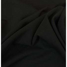 Tissu jersey noir coton