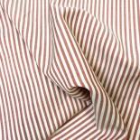 Tissu coton à rayures - blanc et rouge