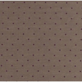 Coupon batiste taupe pois figue - 1 m 10