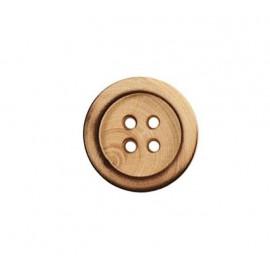 Boutons en bois quatre trous - 14 mm
