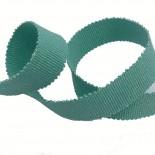 Ruban gros grain vert irisé - 15 mm