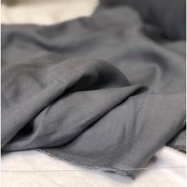 Tissu sergé viscose gris