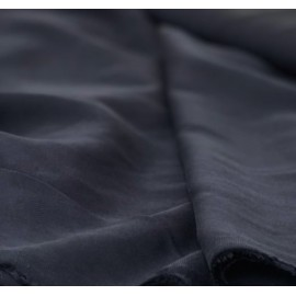 Tissu tencel bleu marine - France Duval Stalla