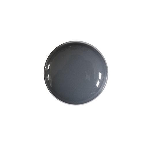 Bouton en métal émaillé gris
